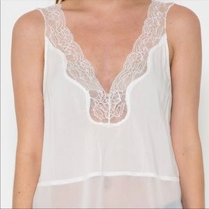 Esley Tops - White Lace Cami Top